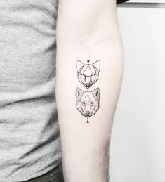 Wolf tattoos on the left inner forearm. Artista Tatuador: Matteo Nangeroni