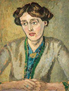 Portrait of Virginia Woolf by Vanessa Bell or Duncan Grant? Vanessa Bell, Virginia Woolf, Harlem Renaissance, Clive Bell, Dora Carrington, Duncan Grant, Munier, Bloomsbury Group, Kunst Online