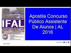 Apostila Concurso Público Assistente De Alunos | AL 2016
