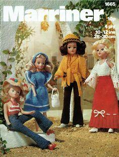 Barbie Knitting Patterns, Doll Clothes Patterns, Doll Patterns, Knit Patterns, Vintage Patterns, Craft Patterns, Sindy Doll, Vintage Barbie Dolls, Barbie Wardrobe