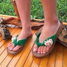 8386d9c1e5d099 Women s Flat Heel Flower Flip-Flops Slippers