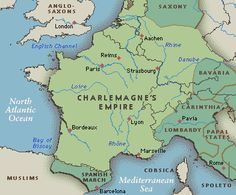 Map Of Charlemagne's Conquests