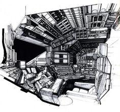 Syd Mead - Cockpit