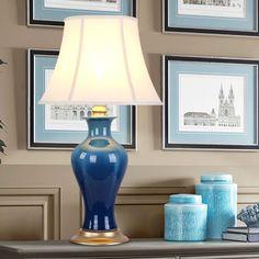 Modern Ceramic Table Lamp Bedside Porcelain Living