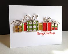 I used the new Simon Brilliant Gifts die for a couple brilliant silver lined gifts!! The die...