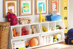 Make sure the playroom is kid friendly and is furnished for all the activities and play. Shop Pottery Barn Kids' playroom furniture including tables, lounge chairs, and more. Playroom Storage, Kid Toy Storage, Playroom Design, Playroom Ideas, Storage Ideas, Storage Bins, Storage Solutions, Storage Design, Organization Ideas