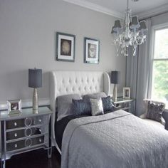 Grey Shabby Chic Bedroom - Bedroom Decorating Ideas On A Budget Check more at http://maliceauxmerveilles.com/grey-shabby-chic-bedroom/