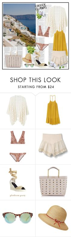 """""""Pack and Go: Greek Islands♥♥♥"""" by marthalux ❤ liked on Polyvore featuring MANGO, Zimmermann, Castañer, Karl Lagerfeld, Victoria Beckham, Packandgo and greekislands"""