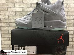"9615b6aa6fc482 ATHENTIC KAWS X Air Jordan 4 ""Cool Grey"" from aj23shoes.com Kik skype   aj23shoes Wechat snapchat  aj23shoes1 YouTube  aj23shoes ..."