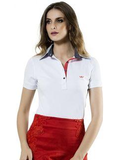 9dde7df6ab camisa polo branca feminina principessa ticiana Camisa Branca