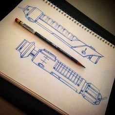 Sketched some lightsaber a for today. Done with Prismacolor pencil. #sketch…