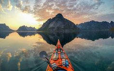 photographs taken by a kayaker in the Norwegian fjords. From the spectacular Lofoten Islands to serene Sotra, the pictures really show off Norways natural beauty all from the view of a kayaker.