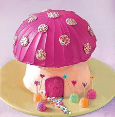 Toadstool Cake Recipe For Your Child's Fairy Whimsy Birthday Party by #MyBirthdaySupplies