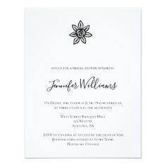 #Simple rose bridal shower invitations - #weddinginvitations #wedding #invitations #party #card #cards #invitation #elegant