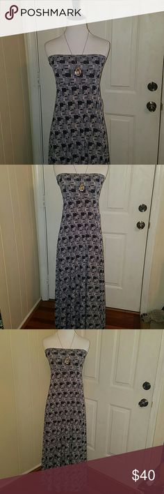 LULAROE XL MAXI DRESS NWT* VERY CUTE MAXI DRESS , BRAND NEW WITH TAGS ATTACHED IN SIZE EXTRA LARGE OR XL BY LULAROE IS A SUPER CUTE PRINT AND TIMELESS PIECE TO USE IN SUMMERTIME OR IN OTHER WAYS AND SEASONS . (* NECKLACE/PENDANT SHOWN IS NOT FOR SALE * JUST FOR PRESENTATION ) LuLaRoe Dresses Maxi