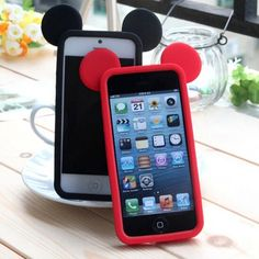 Lovely 3D Silicone Bumper Case Cute Mickey Silicon Soft Bumper Frame Cover Capinhas Capa Para for iphone 4 5 6 6s plus