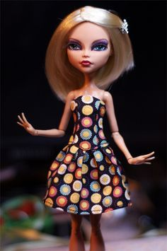 Monster high dress patterns and instructions (Russian)