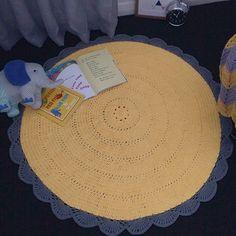 Sunflower Crochet Rug