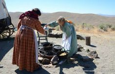 A pioneer encampment at the National Historic Oregon Trail Interpretive Center outside Baker City Oregon. (Photo courtesy Baker County Touri...