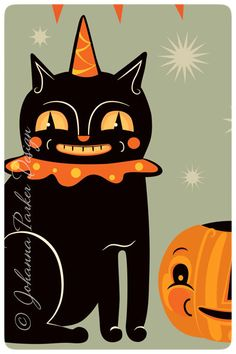 Black-Cat-&-Jack by Johanna Parker Design, via Flickr