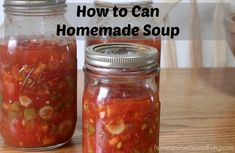 Home canning soup to make the most of seasonal ingredients and keep your pantry full of healthy quick dinner ideas without the processed ingredients of store-bought canned soup.