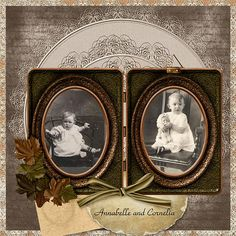 Annabelle and Cornelia...beautiful heritage layout