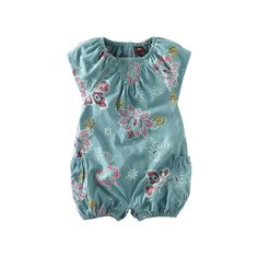 Tea Collection Flutter Sleeve Print Romper (Infant) - gorgeous print romper for baby girl Baby Girl Romper, My Baby Girl, Baby Rompers, Baby Bloomers, Baby Girl Clothes Summer, Baby Girl Fashion, Kids Fashion, Nail Fashion, Baby Outfits