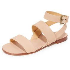Splendid Colleen Sandals (335 MYR) ❤ liked on Polyvore featuring shoes, sandals, sand, wrap shoes, small heel sandals, low heel sandals, leather footwear and wrap around shoes