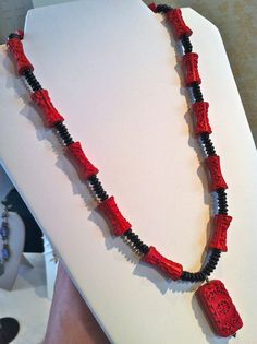 red coral necklace!