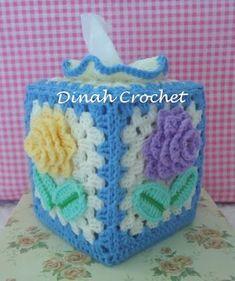 ..❀Dinah's Crochet❀..: Crochet Kleenex Tissue Box Cover