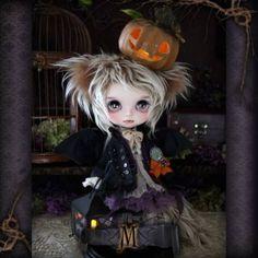 ** Milk Tea ** Custom Blythe * Halloween Wolf-kun *  Buy him here:   #blythe…