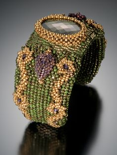 ~~Tekla Cuff by Maggie Meister   Beaded Art to Wear, Inspired by Antiquity~~
