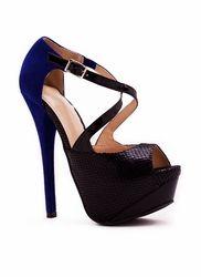 strappy colorblock heel