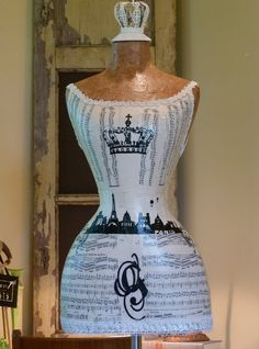 Paris Dress Form Mannequin Crown Vintage Inspired  by autumnlady18, $339.00