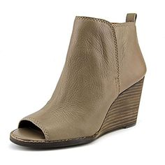 Lucky Brand Jagurr Womens Peep Toe Leather Wedges Heels Shoes