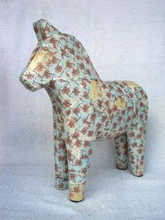 wallpaperish blue patterned dala horse