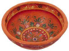 Ian Snow Papier Mache Bowl, Orange: Amazon.co.uk: Kitchen & Home