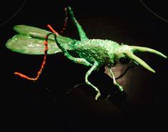 Grasshopper brooche by LisaRoxette