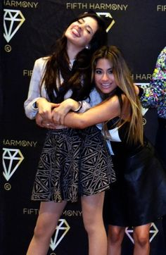 Karla Camila Cabello and Allyson (Ally) Brooke Hernandez from Fifth Harmony.