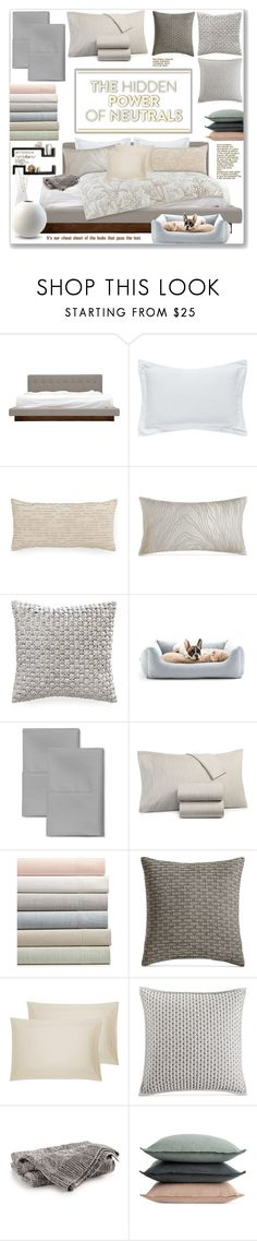 """""""Hotel Bedding   The Power of Neutrals"""" by fassionista ❤ liked on Polyvore featuring interior, interiors, interior design, home, home decor, interior decorating, artless, Hotel Collection, Gingerlily and Luxor Linens"""