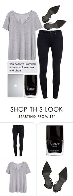 """""""Unlimited Amounts"""" by forbidden-dreams19 ❤ liked on Polyvore featuring Paige Denim, H&M and Alexander Wang"""