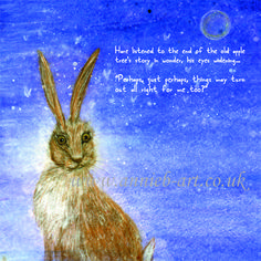 From the story book:  The Hare and the wise old apple tree by annie b. www.annieb-art.co.uk Tree Story, Apple Tree, Hare, Annie, Old Things, Books, Libros, Bunny, Book