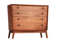 acorn dresser modern chest drawers bark