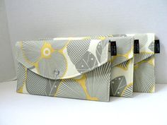 Optic Blossom  Bridesmaid Clutches  Set of 3 by BagEnvy on Etsy, $54.00
