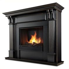 Real Flame Ashley Indoor Gel Fireplace  Black Wash >>> Read more at the image link.