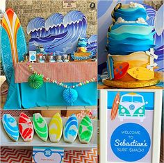 This awesome surf shack party — inspired by Disney's Teen Beach Movie — is just too cute to pass up. Thrown by Carol Rivera of Once Upon a Party, the birthday bash has some simply incredible elements, including a cool surf-inspired cake, surfboard cookies, shark fin cupcakes, and even a vintage VW surf van! While your next trip to the beach might seem far away, this party will remind you one more time why we all love Summer (minus the sharks) so much! Keep clicking for all the details…
