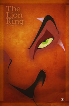 Disney's The Lion King.  Beautiful minimal poster design!  Art By Alex M Studios Via MinimalMoviePosters.tumblr.com