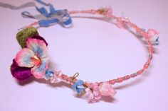 Flower crown hairband. Pink and Blue floral by SheSellsHeart, £23.00