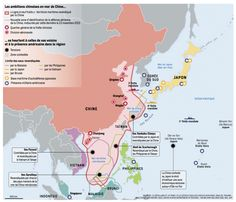 The situation in the Chinese sea, Infographic by Le Monde