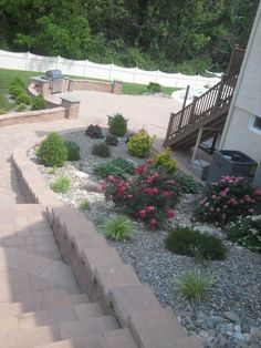 Flagstone to Maintain the Beauty of Pathway Structure: Exquisite Outdoor Stair River Rock Pics ~ promwardrobe.com Exterior Design Inspiration